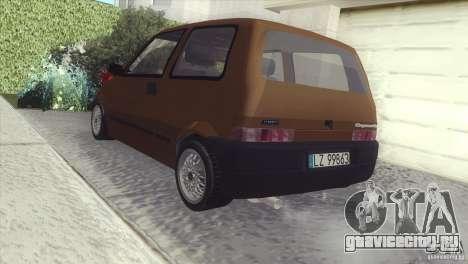 Fiat Cinquecento для GTA San Andreas вид сзади слева