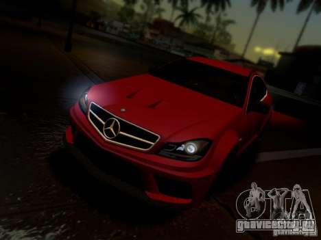 Mercedes Benz C63 AMG C204 Black Series V1.0 для GTA San Andreas