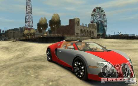 2009 Bugatti Veyron Grand Sport [EPM] для GTA 4 вид сзади