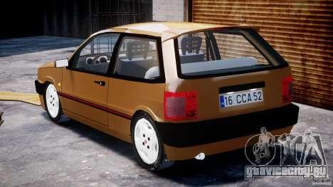Fiat Tipo 1990 для GTA 4 вид сбоку