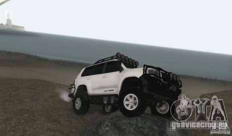 Toyota Land Cruiser 200 Off Road v1.0 для GTA San Andreas вид сзади слева