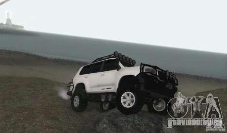 Toyota Land Cruiser 200 Off Road v1.0 для GTA San Andreas вид сзади слева