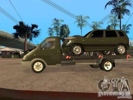 ГАЗ 3302 v2.0 (ГАЗель Эвакуатор) для GTA San Andreas вид слева