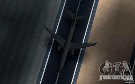 Sukhoi SuperJet-100 для GTA San Andreas вид сзади