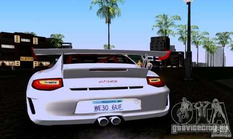 Porsche 911 GT3 RS для GTA San Andreas вид справа