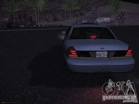 Ford Crown Victoria 2003 для GTA San Andreas вид сзади