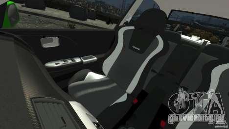 Mitsubishi Lancer Evo IX Tuning для GTA 4 вид сверху