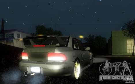 Subaru Impreza 22B для GTA San Andreas вид сзади слева