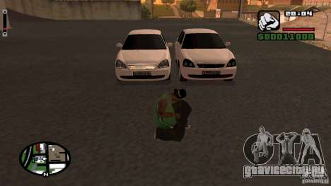Lada Priora Tuning для GTA San Andreas вид справа
