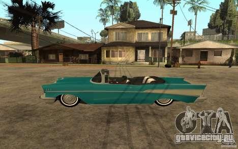 Chevrolet Bel Air 1956 Convertible для GTA San Andreas вид слева