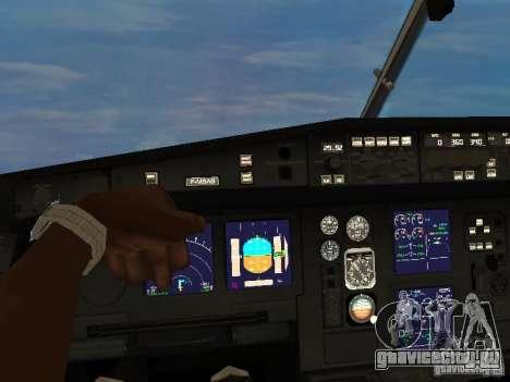Airbus A340-300 Air Canada для GTA San Andreas вид сзади