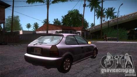 Honda Civic Tuneable для GTA San Andreas вид справа