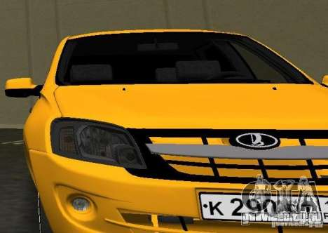 Lada Granta v2.0 для GTA Vice City вид сзади