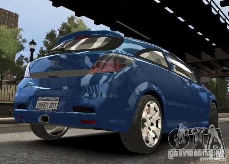 Opel Astra OPC для GTA 4 вид справа