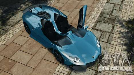 Lamborghini Aventador J 2012 v1.2 для GTA 4 вид сверху