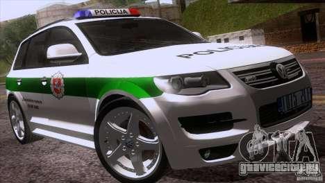 Volkswagen Touareg Policija для GTA San Andreas вид сверху