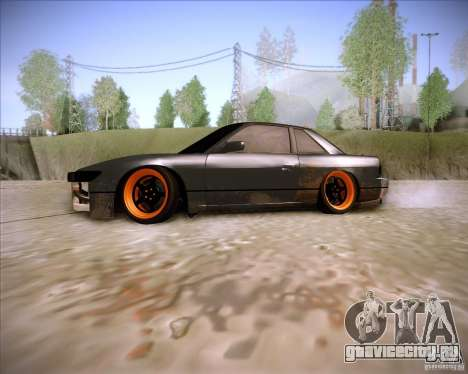 Nissan Silvia S13 Under Construction для GTA San Andreas вид слева