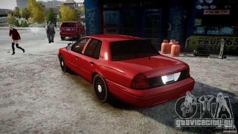 Ford Crown Victoria Detective v4.7 red lights для GTA 4 вид сзади слева