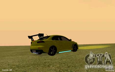 Mitsubishi Lancer Evolution Drift для GTA San Andreas вид сзади слева