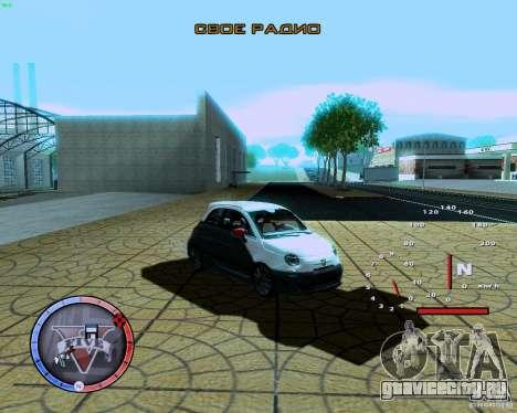 Fiat 500 Abarth для GTA San Andreas вид слева