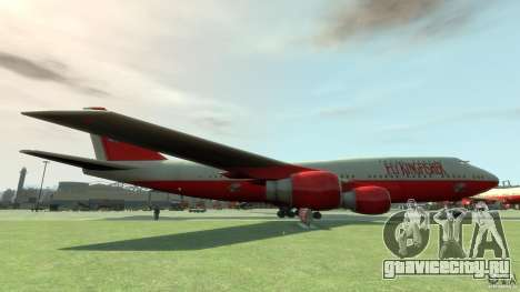 Fly Kingfisher Airplanes with logo для GTA 4 вид слева