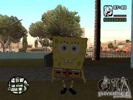 Sponge Bob для GTA San Andreas шестой скриншот