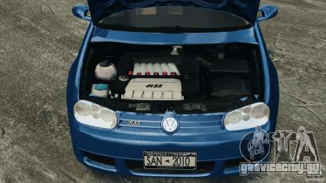 Volkswagen Golf 4 R32 2001 v1.0 для GTA 4 вид изнутри