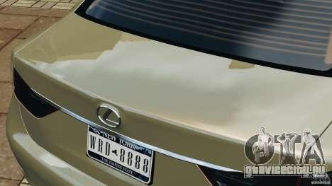 Lexus GS350 2013 v1.0 для GTA 4 салон