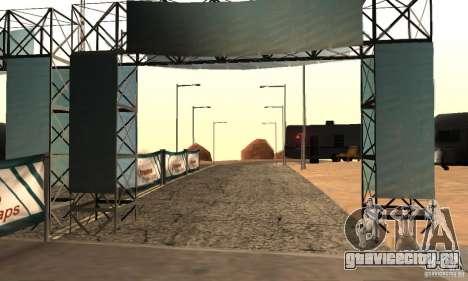 Трасса для дрифта Большое ухо v1 для GTA San Andreas второй скриншот