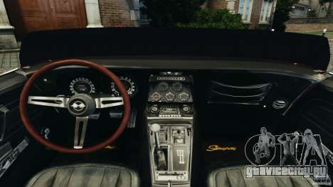 Chevrolet Corvette Sting Ray 1970 Custom для GTA 4 вид сзади