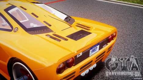 Mc Laren F1 LM v1.0 для GTA 4 вид изнутри