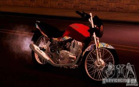 Yamaha YBR для GTA San Andreas вид сзади слева