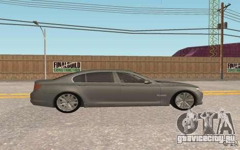 BMW 730d для GTA San Andreas вид изнутри