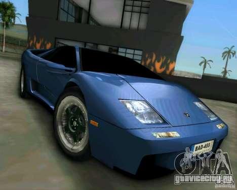 Lamborghini Diablo для GTA Vice City вид сзади слева
