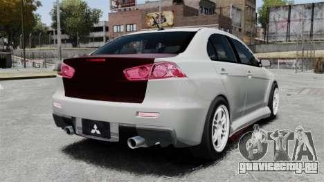 Mitsubishi Lancer Evolution X ToneBee Designs для GTA 4 вид сзади слева