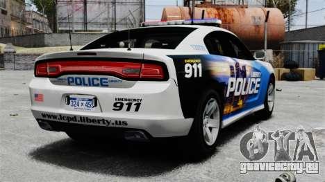 Dodge Charger 2013 Police Code 3 RX2700 v1.1 ELS для GTA 4 вид сзади слева