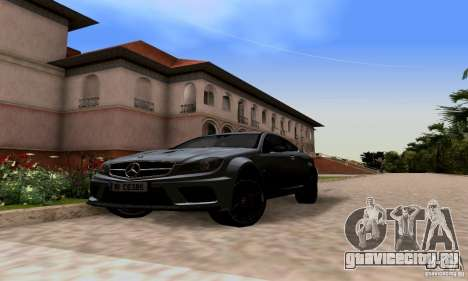 Mercedes-Benz C63 AMG для GTA San Andreas вид слева