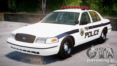 Ford Crown Victoria 2003 FBI Police V2.0 [ELS] для GTA 4 вид слева