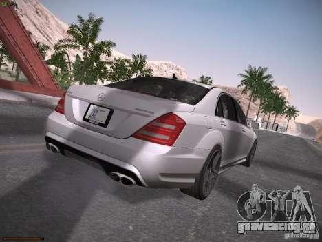 Mercedes Benz S65 AMG 2012 для GTA San Andreas вид справа