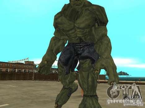 Hulk Skin для GTA San Andreas третий скриншот