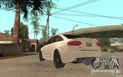Audi RS6 2009 для GTA San Andreas вид сзади слева