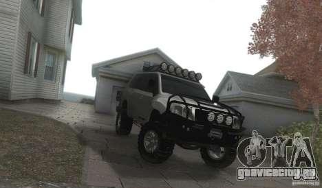 Toyota Land Cruiser 200 Off Road v1.0 для GTA San Andreas вид сзади