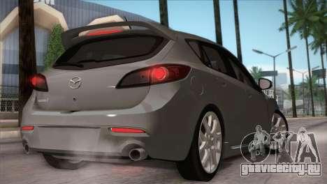 Mazda Mazdaspeed3 2010 для GTA San Andreas вид сбоку