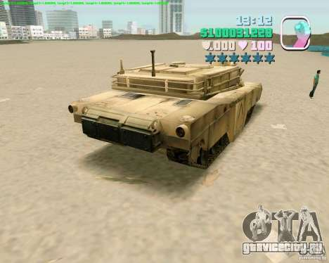 M 1 A2 Abrams для GTA San Andreas вид сзади