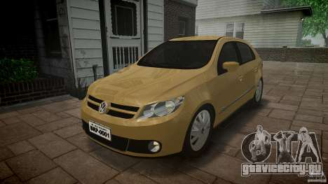 Volkswagen Gol 1.6 Power 2009 для GTA 4 вид сзади