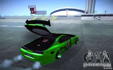Toyota Supra Tuned для GTA San Andreas вид изнутри