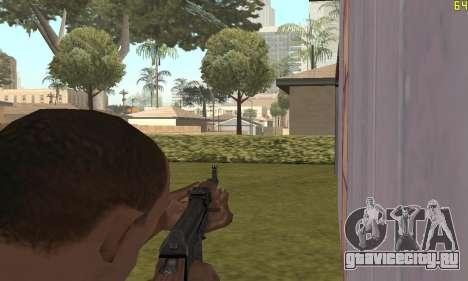 Автомат Калашникова Модернизованный для GTA San Andreas четвёртый скриншот