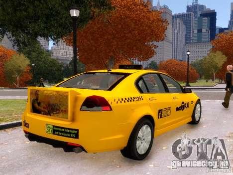 Holden NYC Taxi V.3.0 для GTA 4 вид слева