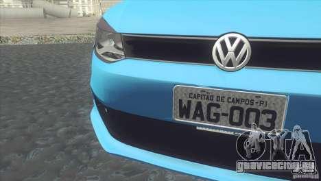 Volkswagen Voyage G6 2013 для GTA San Andreas вид сзади слева