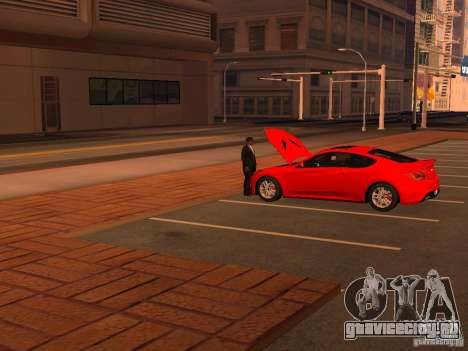 Hyundai Genesis Coupé 3.8 Track V1.0 для GTA San Andreas вид снизу